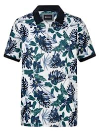 Polo tričko s kvetinovou potlačou