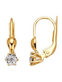 Örhängen med diamant