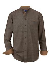 Košile s módním stojatým límcem