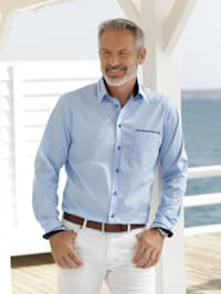 Overhemd met contrastkleurig beleg