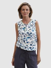Topje van blousemateriaal
