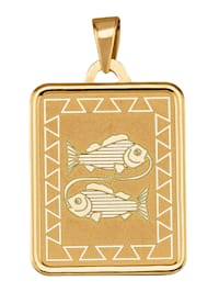 Hanger Sterrenbeeld Vissen van 9 kt.