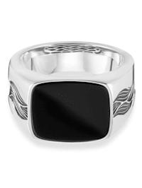 Ring 925/- Sterling Silber Onyx schwarz Glänzend 3,00ct 925/- Sterling Silber