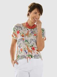 Shirt met trendy dieren- en jungleprint