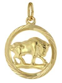 Sternzeichen Stier 333 Gold Anhänger Ø 16 mm