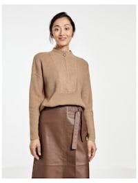 Pullover mit Troyerkragen