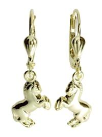 Ohrhänger - Pferd - Gold 333/000 - ,