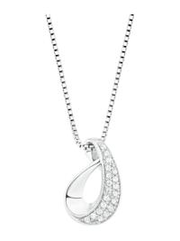 Kette mit Anhänger für Damen, Sterling Silber 925, Zirkonia Motiv