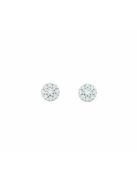 1001 Diamonds Damen Goldschmuck 333 Weißgold Ohrringe / Ohrstecker mit Zirkonia