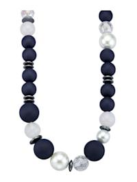 Collier avec perles en verre