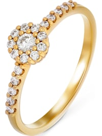 CHRIST Damen-Damenring 20 Diamant