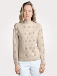 Jumper with a touch of cashmere