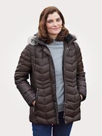 Páperová bunda s odnímateľnou kapucňou