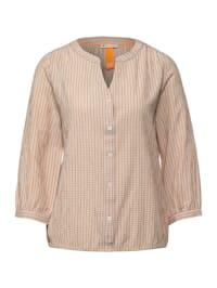 Seersucker-Bluse mit Karo