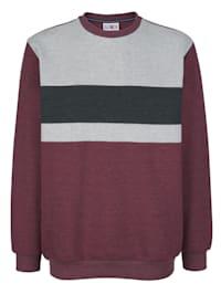 Sweatshirt met contrastkleurige inzetten