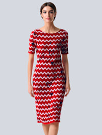 Kleid mit Zick-Zack-Muster