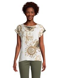 Blusenshirt unifarben Design