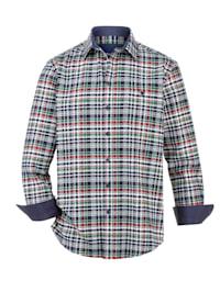 Flanelová košeľa s 1 náprsným vreckom