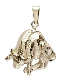 Anhänger - Tierkreiszeichen Stier - Silber 925/000, vergoldet - ,