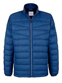 Gewatteerde jas van licht materiaal