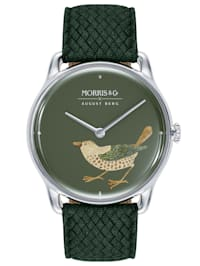 Uhr MORRIS & CO Silver Bird Green Perlon 38mm