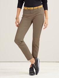 Jeans i farget denim