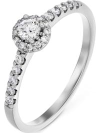 CHRIST Damen-Damenring 23 Diamant