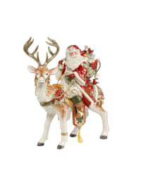 Figur Santa auf Hirsch