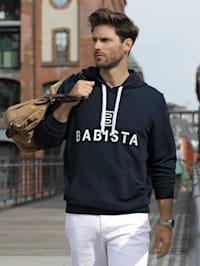 Kapuzen-Sweatshirt in typischem Hoodie-Style