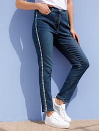 Jeans mit dekorativem Tape seitlich