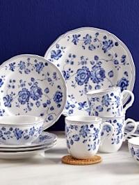 Kombiservise i 16 deler -Alba – Royal Blue Flower-