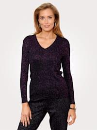 Pullover mit modischen Glanzgarneffekten