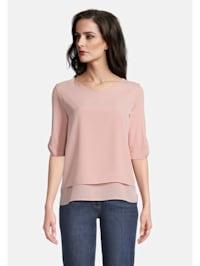 Blusenshirt im Layer Look