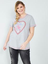Shirt met hartmotief