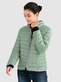 Gewatteerde jas in GREEN GOOSE uitvoering