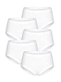 Taillenslips im 5er-Pack mit Stickereimotiv