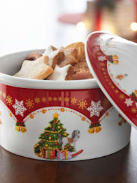 Gebäckdose mit Deckel 'Weihnachtszauber'
