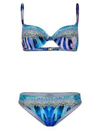Bikini met galonprint