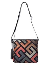 Shoulder bag in a colourful design