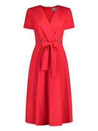 Ausgestelltes Kleid ANICEN mit raffinierter Taille