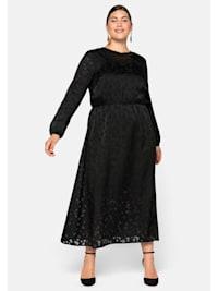 Kleid in Ausbrenneroptik