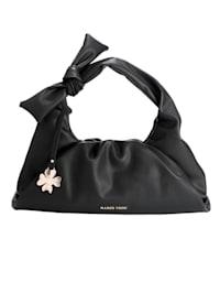 Handväska med avtagbart dekorhänge