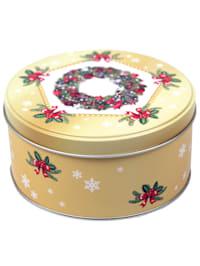 """Boîte en métal """"Couronne de Noël"""""""