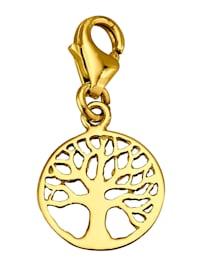Lebensbaum-Einhänger in Gelbgold 375