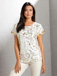 Shirt mit allover Schmetterlings-Print