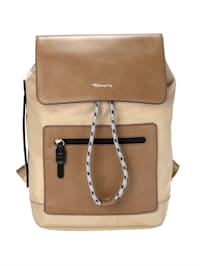 Backpack with a front zip pocket