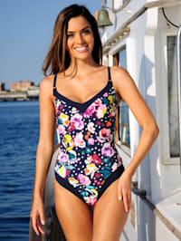 Badeanzug mit floralem Dessin