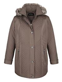 Prošívaná bunda s odnímatelnou kapucí