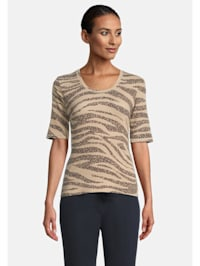 Basic Shirt mit Animalprint