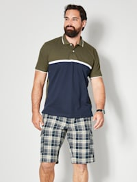 Poloshirt met colour blocking